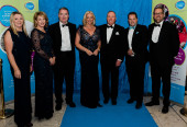 BLUE IS THE COLOUR AS CHILDREN'S CENTRE CHARITY  BALL RAISES £60,000
