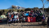 The Manx flag at top of Kilimanjaro